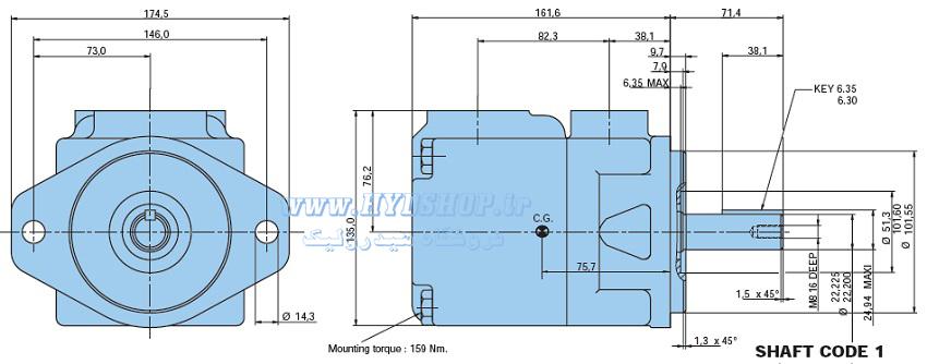 ساختار پمپ پارکر T6C