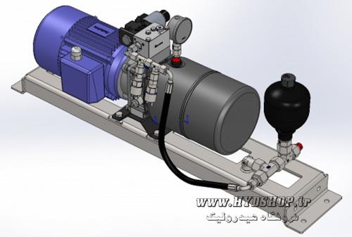 سفارش طراحی و خرید یونیت هیدرولیک کوچک