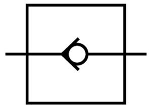 نماد سوپاپ هیدرولیک